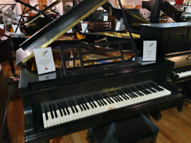 Bluthner style 7 grand piano black restored for sale