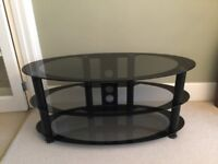 Black Glass TV Stand-For TV's up to 40""