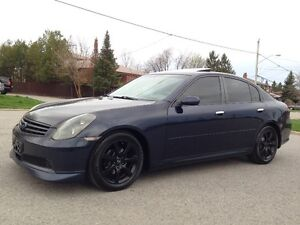 2005 INFINITI G35X AWD AUTOMATIC LEATHER ROOF SERVICE RECORDS