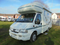Autosleeper Ravenna four berth motorhome with L shape lounge