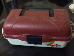 basic tackle box with some items $5 Kingston Kingston Area image 1