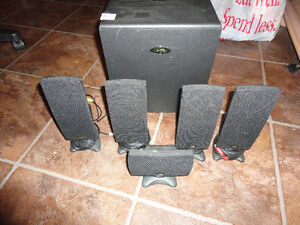 5.1 Cyber Accoustic Speakers with Subwoofer