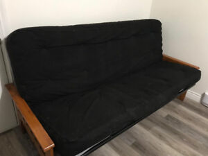 Futon with extra foam mattress and cover