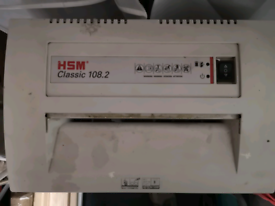 HSM Classic 108.2 paper shredder for busy office/industrial premises