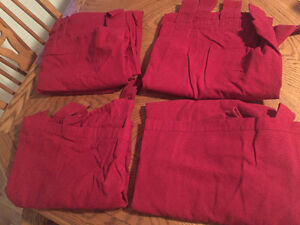 large red curtain panels