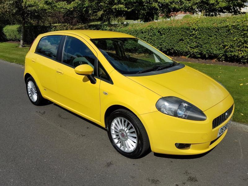 fiat grande punto 1 4 16v gp 5 door 2009 yellow. Black Bedroom Furniture Sets. Home Design Ideas