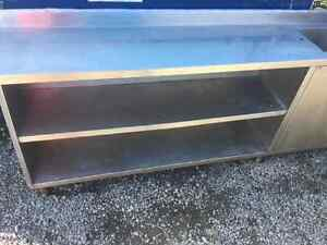 Stainless counter  shelves with sink