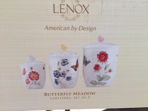 Vaisselle Lenox Butterfly Meadow neuf! / Canister Set NEW!