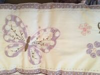 Baby Girl White Lilac Pink Cot Bumper Pottery Barn Kids