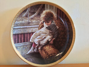 "Happy Hearts Plate ""Contentment"" with Box & Certificate"