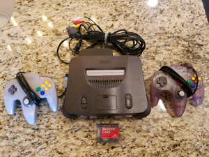 Nintendo 64 with 2 Controllers + Memory Card