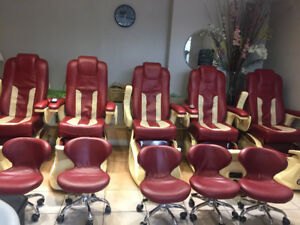 Chairs & tables for Nail Salon