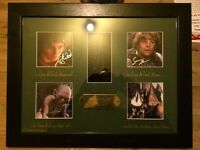 Lord of the Rings Autograph set