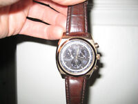 Citizen Calibre 8700 Eco-Drive GMT Black Dial Rose Gold-Tone Men