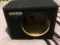 Kicker 12 inch sub box