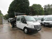 2014 Tipper Ford Transit Double Cab Crew steel body dropside tipper