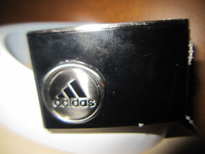 Adidas Leather Golf Belt And Buckle Brand New Reversible Rare
