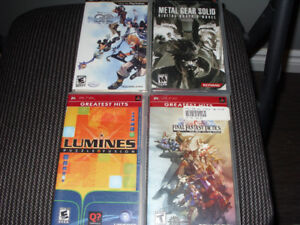 PSP Games for Sale (final fantasy tactics,1,core, and lots more)
