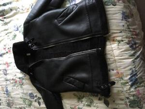 XL black leather jacket from ZARA