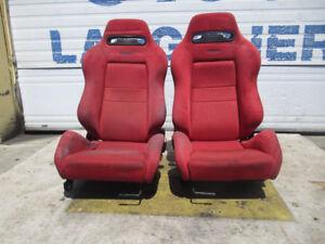 Jdm Honda Integra Type R Front OEM Recaro Seats Rails Dc2 Recaro