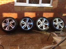 "Genuine Original Range Rover Sport Alloys 20"" Red Edition Alloy wheels to fit VW T4 T5 Camper"