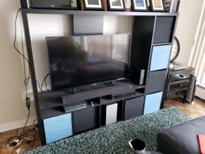 IKEA LAPPLAND TV UNIT AND 8X DRONA STORAGE BOXES