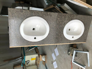 Countertop with Double sink