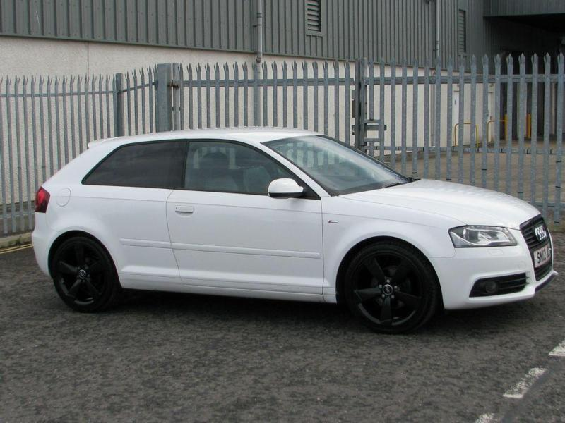 Audi A3 1.8 TFSI Sline Black Edition 3 Door In White NOW