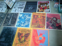 Huge collection of band posters for sale - El Jefe design