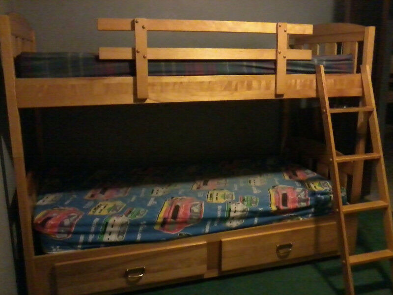 Solid Maple Bunks Beds And Chest Of Drawers Beds Mattresses