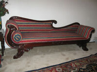 Victorian Style Fainting Couch / Sofa / Recamier