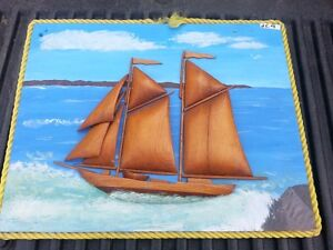 Handcrafted Wooden HALF SHIP MODEL on board