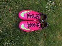 Size 5 Nike mercurial football trainers pink/purple