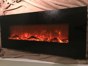 "50"" FIREPLACE wall mount with 3 different Flame colours"