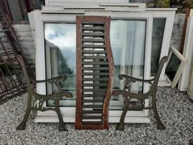 Cast Iron Bench Ends / Garden furniture / benches / patio / outdoor