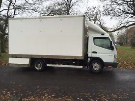 Mitsubishi canter 7.5ton 7C 14 drop well box truck