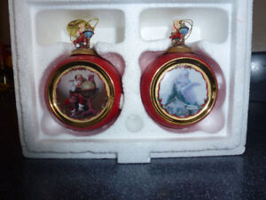 Rockwell Christmas Ornaments - set of 2