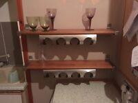 2ikea shelves with wine rack