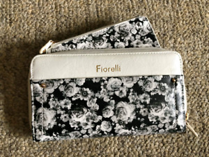Fiorelli black & white floral wallet/clutch. Never used.