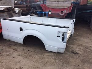ford f150 pickup bed box 8' white