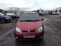 Renault Scenic Megane 1.4 Petrol 2002MOTed and TAXed