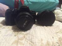 Minolta 450si + 35-70 mm lens + 100 - 300 mm lens
