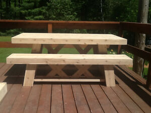 Wooden patio/deck dining table