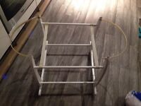 Clair de lune white rocking Moses basket stand