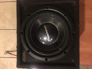12' sub woofer in box