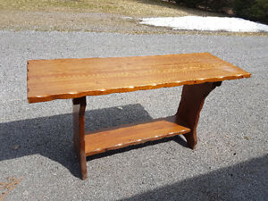 Bar height serving table
