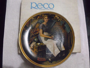 """Norman Rockwell """"Dreaming In The Attic"""" plate"""