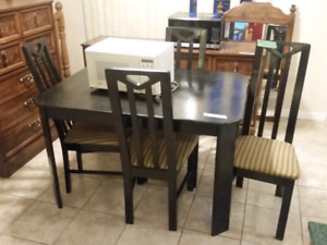 Black Kitchen Table and 4 chairs