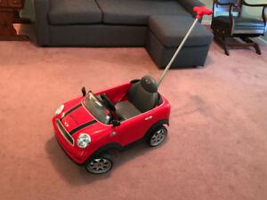 Mini Cooper walker for babies/toddlers