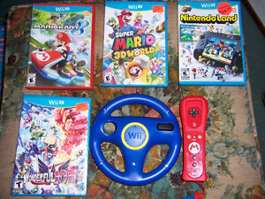 FOR SALE WII  U  GAMES.LIKE NEW,ALSO DIS,INF IN ITY,
